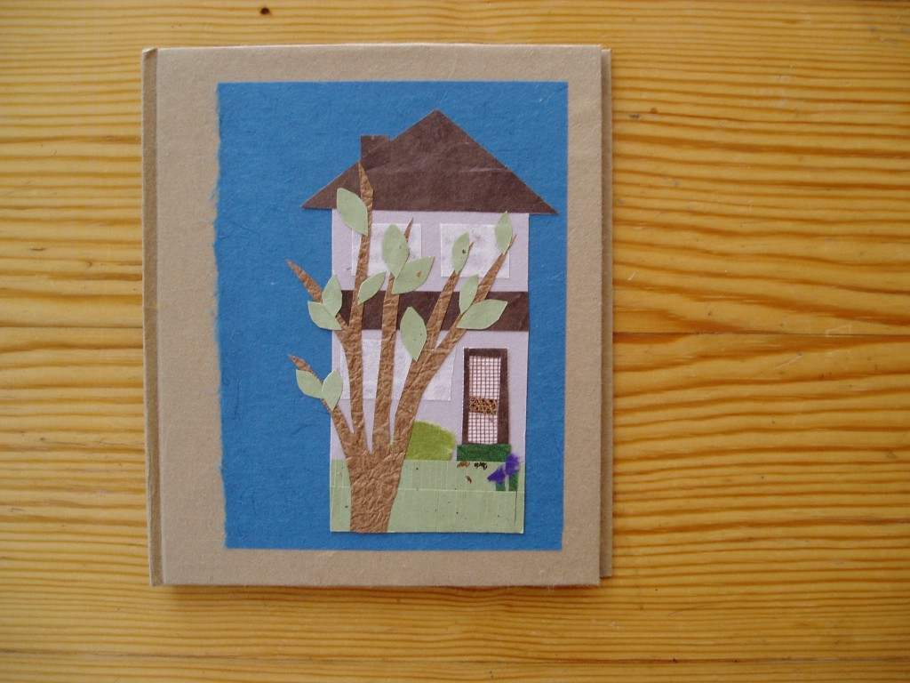 A house, hand-bound book by Lindsay Zier-Vogel