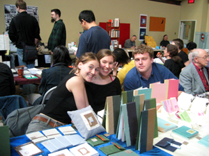 Lindsay Zier-Vogel, Rhya Tamasauskas at small press book fair 2004 in Toronto