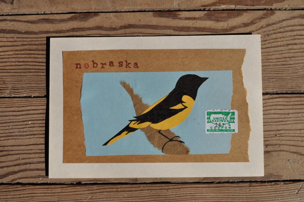 oriole, nebraska paper art