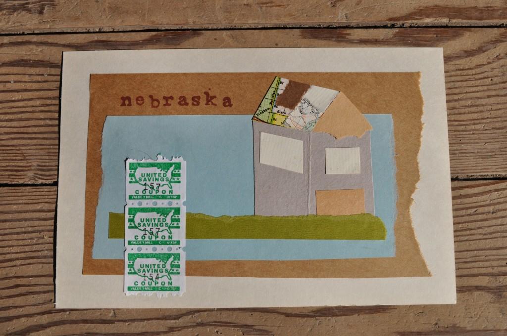 house, victoria, nebraska paper art