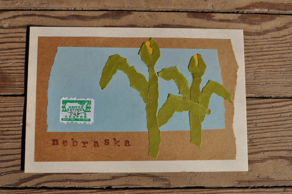 nebraska corn field, paper art