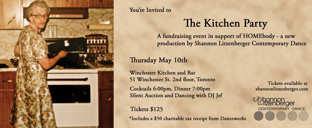 shannon litzenberger, kitchen party, HOMEbody, dance, toronto