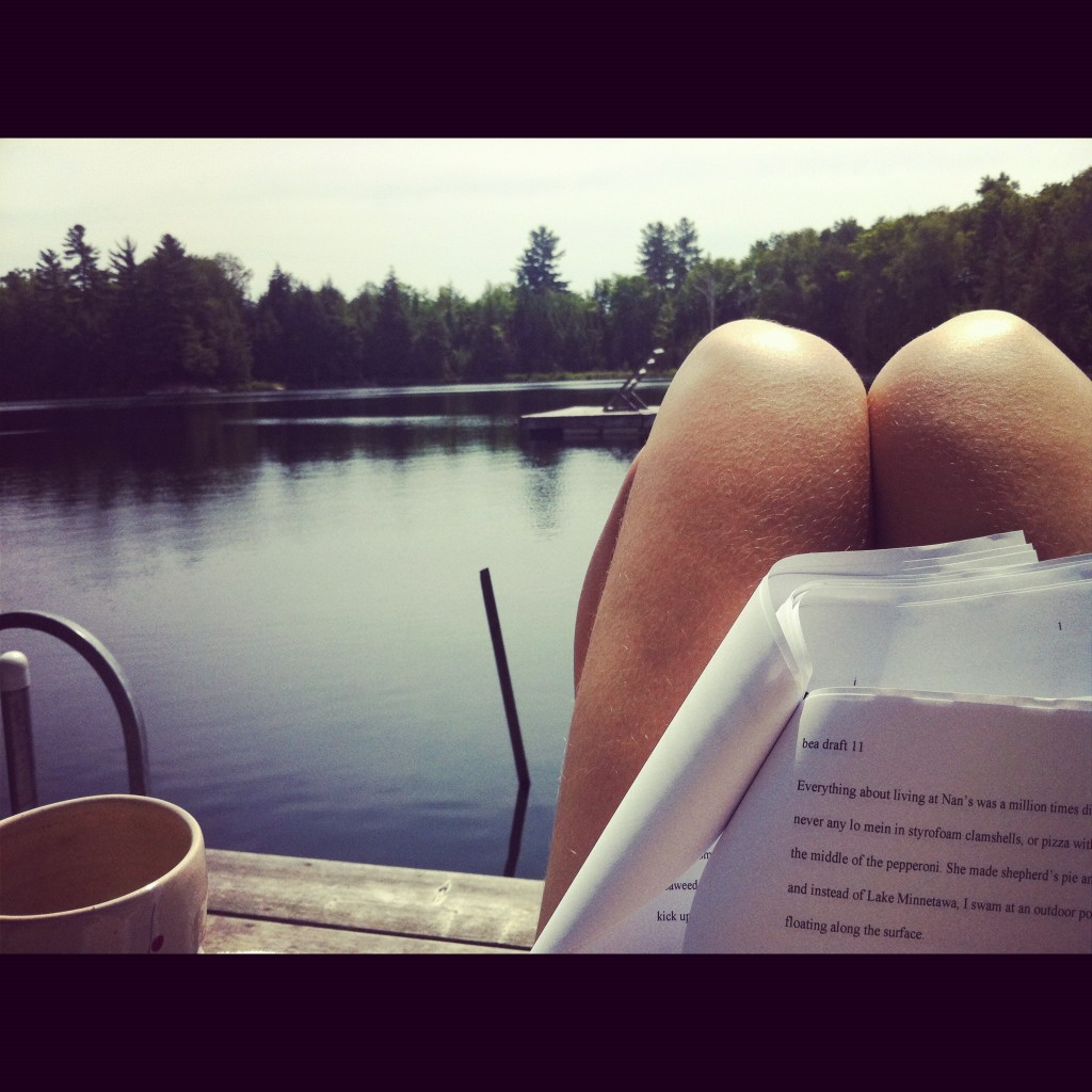 lindsay zier-vogel, toronto, cottage, writing, novel, the opposite of drowning