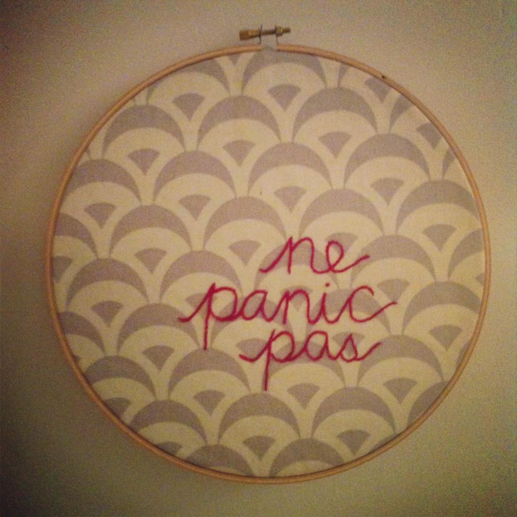 ne panic pas, lindsay zier-vogel, embroidery, art