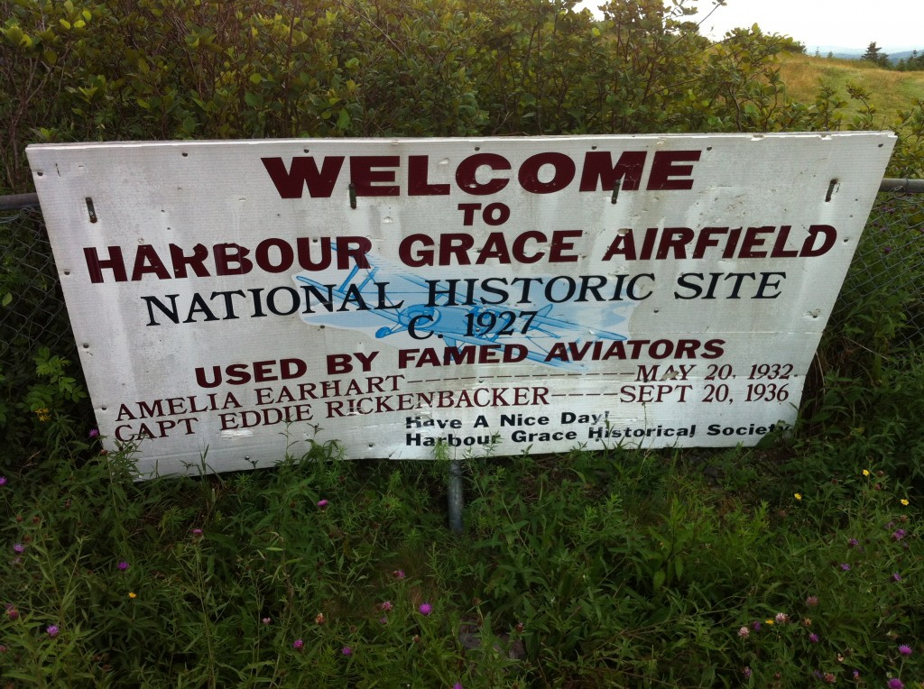 The Harbour Grace airfield, where Amelia Earhart flew from
