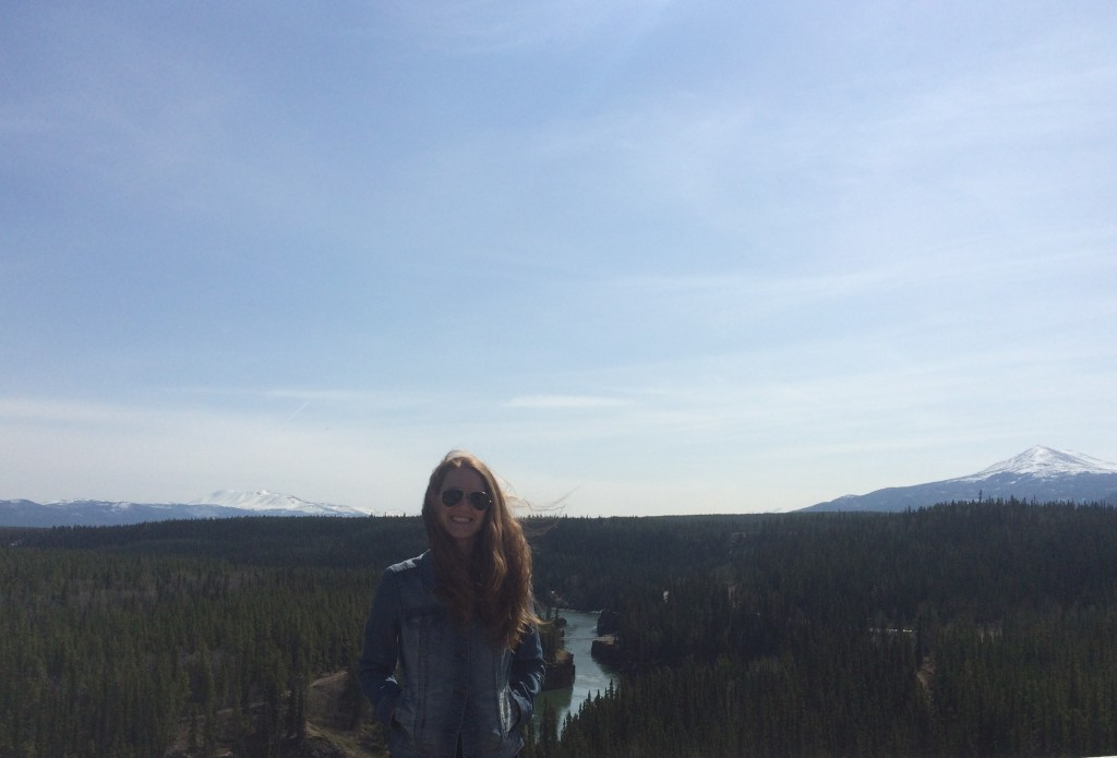 Post-picnic and bald eagle sighting near Miles Canyon in Whitehorse.