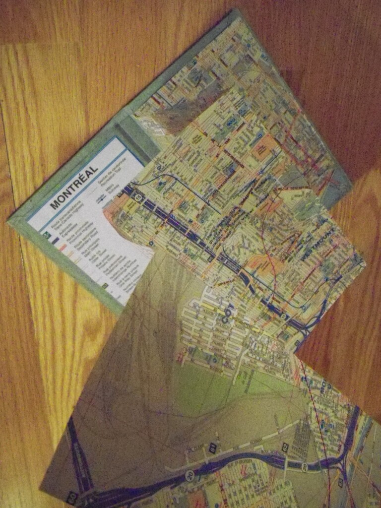 map of montreal, comission, hand-bound by Lindsay Zier-Vogel