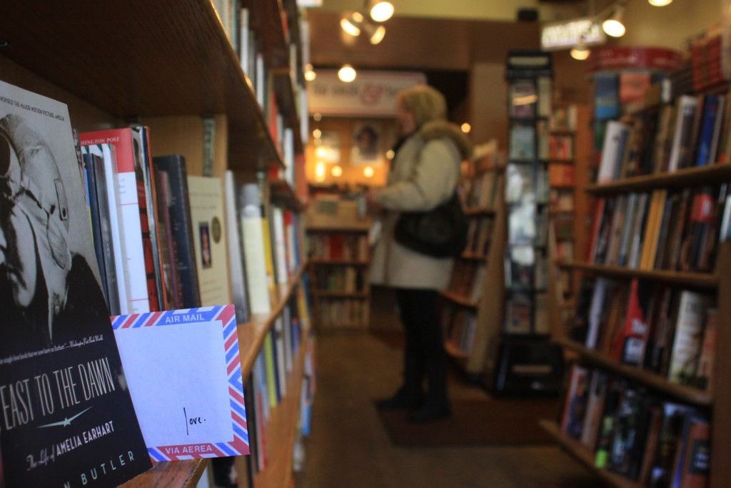 Washington, D.C. love lettering project, book store, amelia earhart biography,, Photo by Michael A. Jones