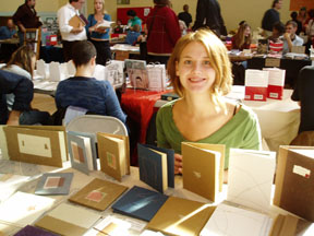 small press book fair 2005, puddle press and lindsay zier-vogel, hand-bound books