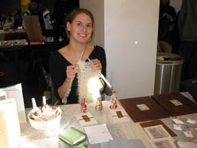 Lindsay Zier-Vogel at OCAD Books Arts fair 2004