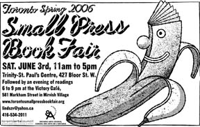 small press book fair flyer, spring 2006