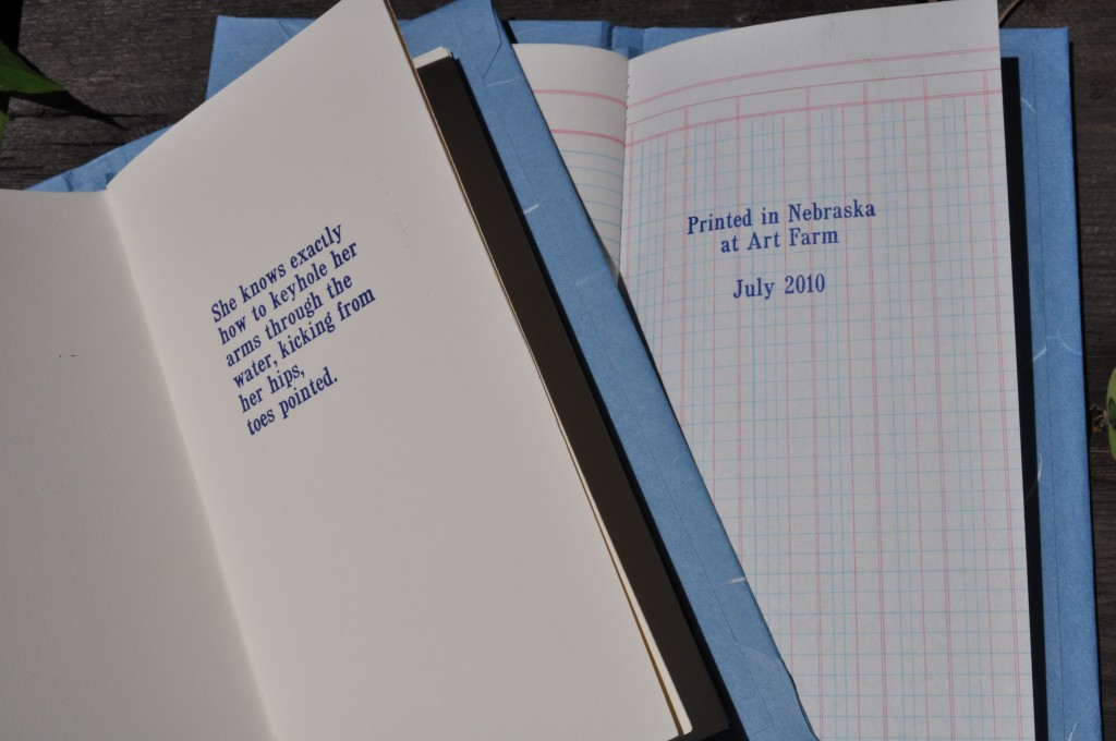 a miracle, somehow, nebraska, letterpress, handbound book