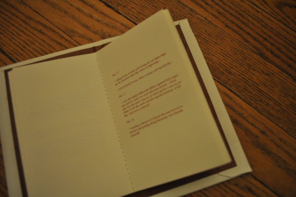 handmade book, lindsay zier-voge, fall joy