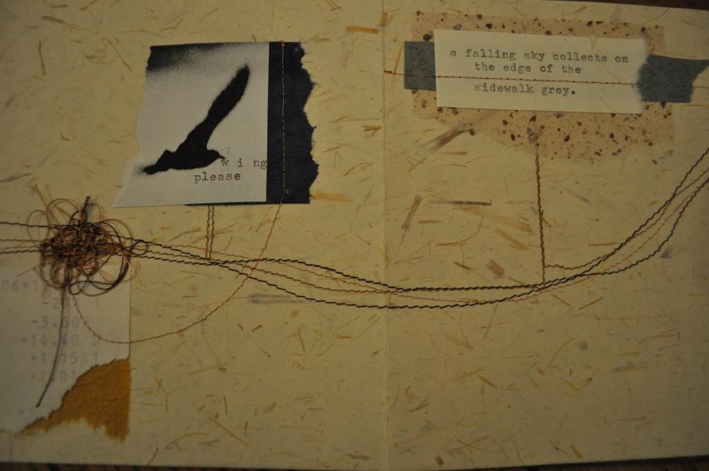 handmade book, lindsay zier-vogel, letting sunday in
