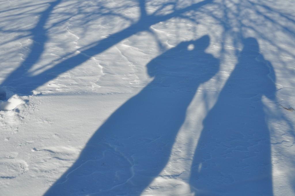 lindsay and dad, shadows, january 2011
