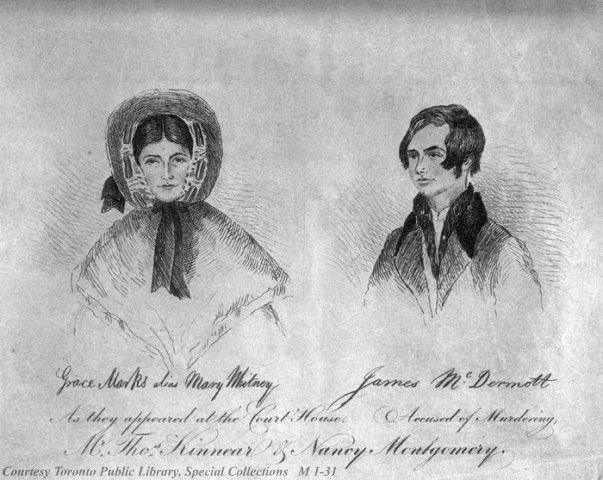 Sketch of Grace Marks and James McDermott / Toronto Public Library
