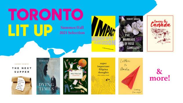 Toronto Lit Up summer fall 2021 book titles